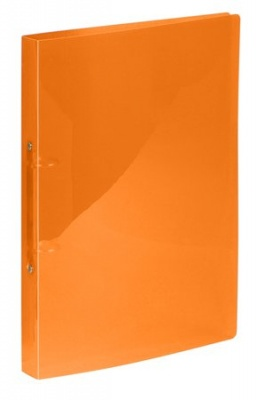 "Krúžkový šanón, 2 krúžky, 25 mm, A4, PP, VIQUEL ""Propyglass"", oranžový"