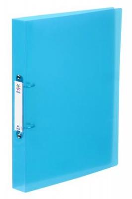 """Krúžkový šanón, 2 krúžky, 35 mm, A4, maxi, PP, VIQUEL """"Propyglass"""", modrý"""