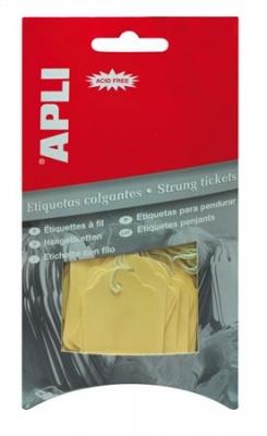 Cenové etikety, 22x35 mm, APLI, žlté