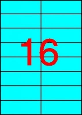 Etikety, 105x37 mm, farebné, APLI, modré, 1600 etikiet/bal