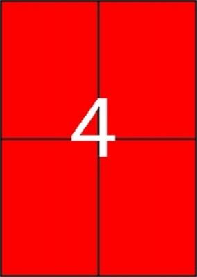 Etikety, 105x148 mm, farebné, APLI, červené, 80 etikiet/bal