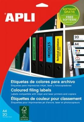 Etikety, 190x61 mm, farebné, APLI, červené, 80 etikiet/bal