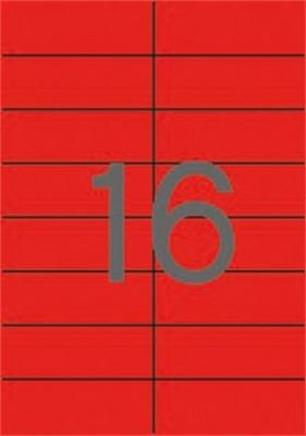 Etikety, 105x37 mm, farebné, APLI, červené, 320 etikiet/bal