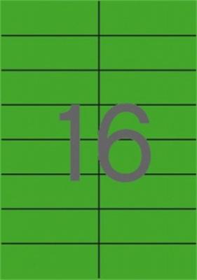 Etikety, 105x37 mm, farebné, APLI, zelené, 320 etikiet/bal