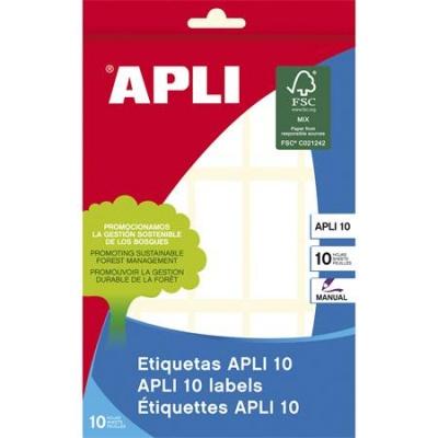 Etikety, 20x50 mm, ručne popisovateľné, APLI, 150 etikiet/bal