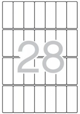 Etikety, 20x50 mm, zaoblené rohy, na liste A5, APLI, 420 etiketa/bal