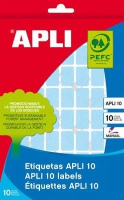 Etikety, 12x18 mm, ručne popisovateľné, farebné, APLI, modré, 448 etikiet/bal
