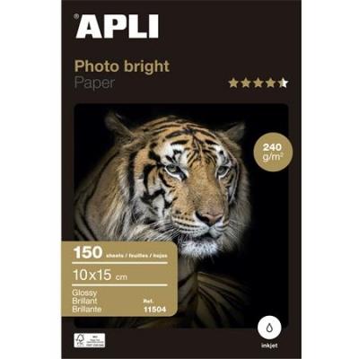 """Foto papier, k atramentovým tlačiarňam, 10x15 cm, 240 g, lesklý, APLI """"Photo Bright"""""""