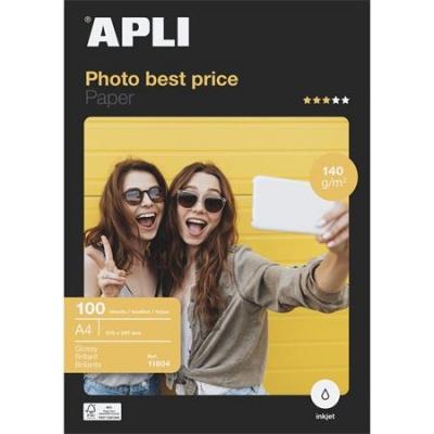 """Foto papier, k atramentovým tlačiarňam, A4, 140 g, lesklý, APLI """"Best Price"""""""
