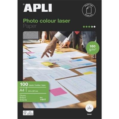 """Foto papier, do laserových tlačiarní, A4, 160 g, lesklý, obojstranný, APLI """"Premium Laser"""""""