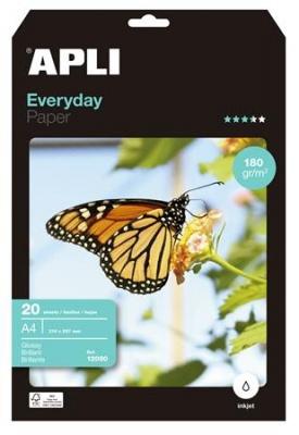 """Foto papier, k atramentovým tlačiarňam, A4, 180 g, lesklý, APLI """"Everyday"""""""