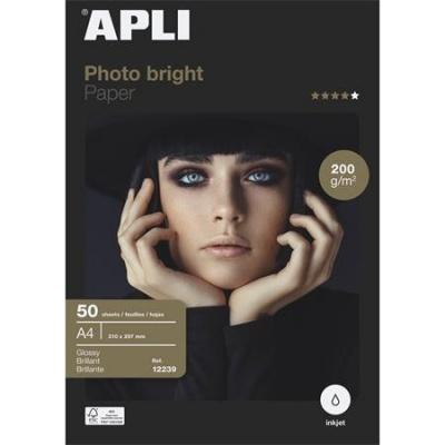 """Foto papier, k atramentovým tlačiarňam, A4, 200 g, lesklý, APLI """"Everyday"""""""