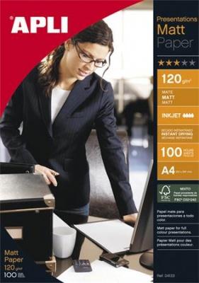 """Foto papier, k atramentovým tlačiarňam, A4, 120 g, matný, APLI """"Presentations"""""""