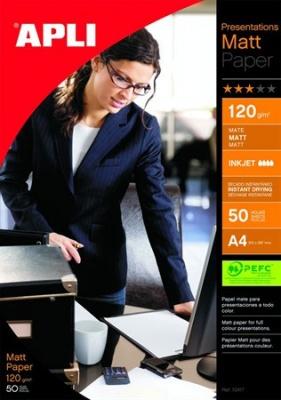 """Foto papier, k atramentovým tlačiarňam, A3, 120 g, matný, APLI """"Presentations"""""""