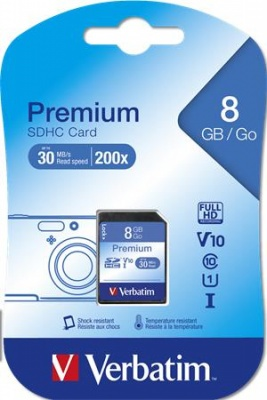 Pamäťová karta SecureDigital, 8 GB (SDHC) Class 10