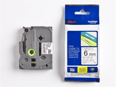 6 mm páska, priehľadný základ/čierne písmenká
