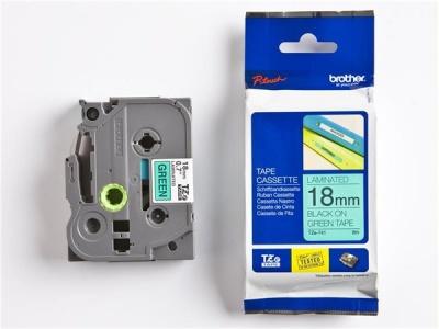 18 mm páska, zelený základ/čierne písmenká