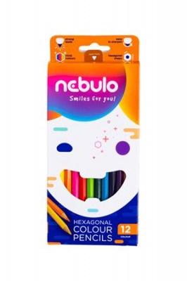 Farebné ceruzky, NEBULÓ, 12 farieb