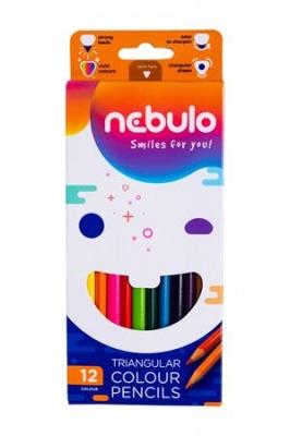 Farebné ceruzky, trojuholníkový tvar,  NEBULÓ, 12 rôznych farieb