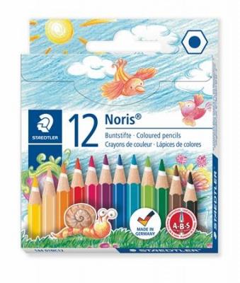 """Farebné ceruzky, šesťhranné, stredne dlhé, STAEDTLER """"Noris Club"""", 12 rôznych farieb"""