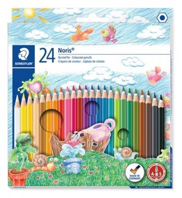 """Farebné ceruzky, šesťhranné, STAEDTLER """"Noris Club"""", 24 rôznych farieb"""