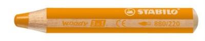 "Farebná ceruzka, hrubá, STABILO ""Woody"", oranžová"