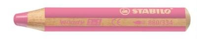 """Farebná ceruzka, hrubá, STABILO """"Woody"""", ružová"""