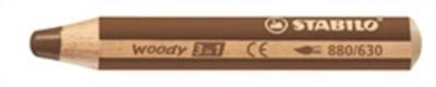 """Farebná ceruzka, hrubá, STABILO """"Woody"""", hnedá"""