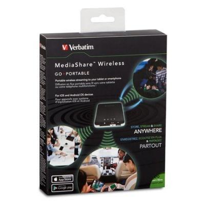 """Bezdrôtové USB a čítačka kariet, prenosný akumulátor, VERBATIM """"MediaShare Wireless"""""""